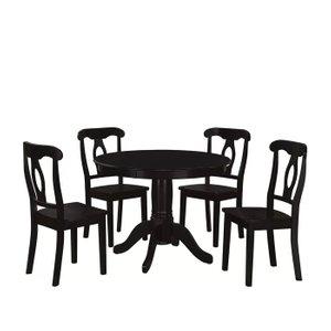 Gaskell Dining Set for 4 Black