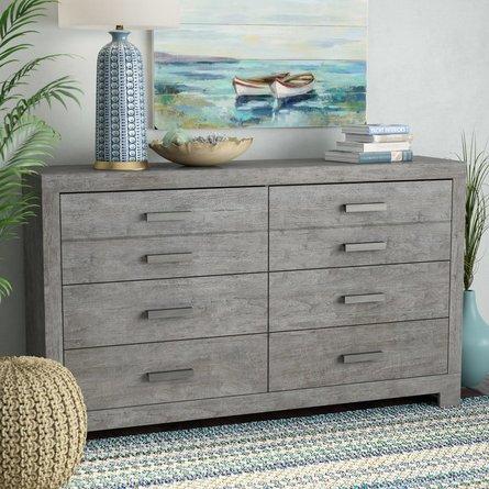 Curator 6 Drawer Dresser Gray