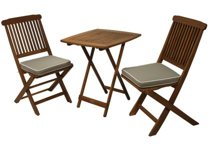 Mulligan 3 Piece Bistro Set Gray