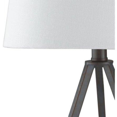 "Belmont 16.5"" Table Lamp Bronze/White"