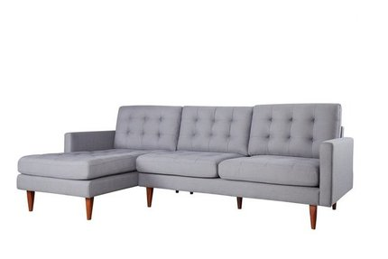 Bernard Sectional Sofa LAF Dark Gray