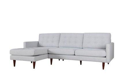 Bernard Sectional Sofa LAF Light Gray