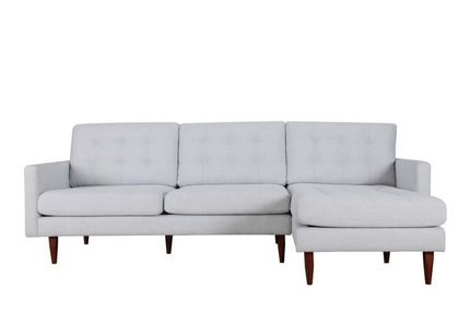 Bernard Sectional Sofa RHF Dark Gray