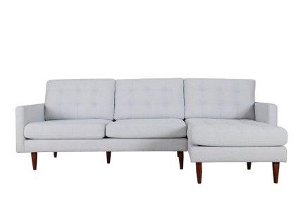 Bernard Sectional Sofa RHF Light Gray