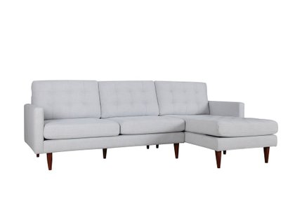 Bernard Sectional Sofa RHF Light Gray