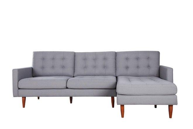 Bernard Sectional Sofa Rhf Dark Gray In Sf Sofas Casaone