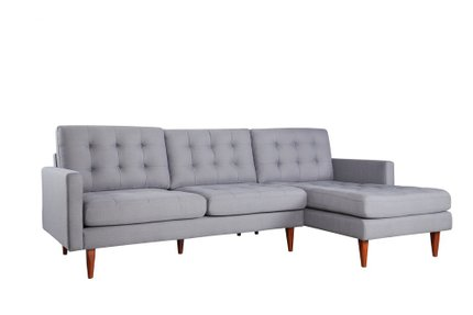 Bernard Sectional Sofa RHF Dark Gray