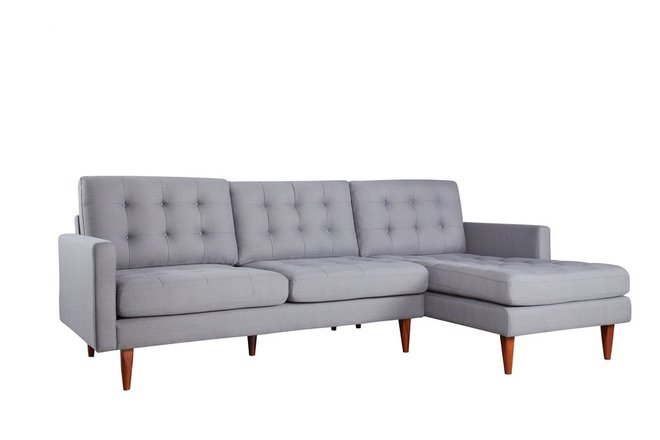 benches for bedrooms bernard sectional sofa rhf gray in sf sofa casaone 10817