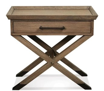 Aster 1 Drawer Nightstand Oak