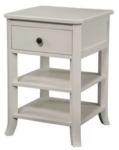Ableman 1 Drawer Nightstand White