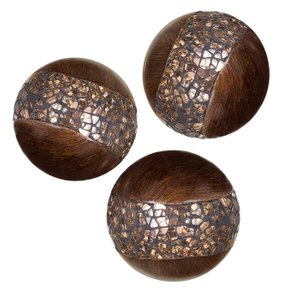 Petterson Decorative Orbs Walnut (Set of 3)