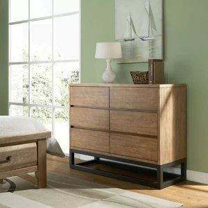 Cope 6 Drawer Double Dresser Natural