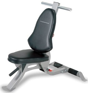 Functional Trainer Bench Silver & Black