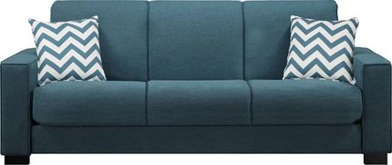 Swingler Convertible Sleeper Sofa Blue