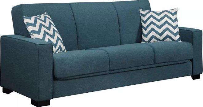 Swingler Convertible Sleeper Sofa Blue