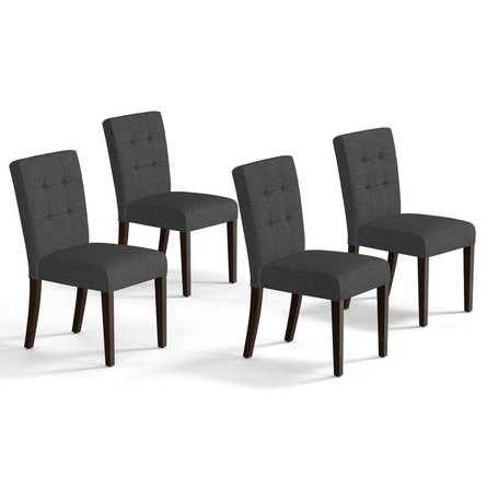 Antca Upholstered Dining Chair Dark Gray (Set of 4)