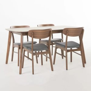Feldman Dining Set For 4 Gray