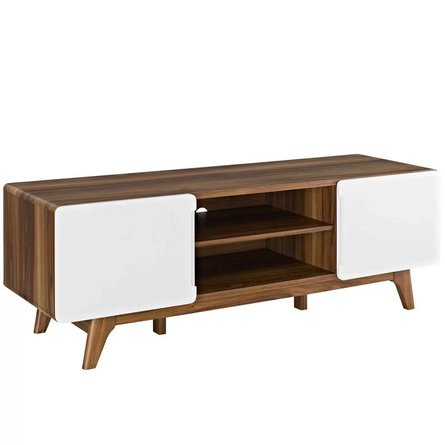 "Colbin TV Stand for TVs up to 65"" White & Walnut"