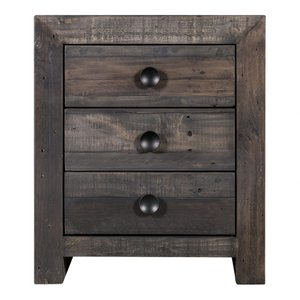 Vintage Nightstand Gray