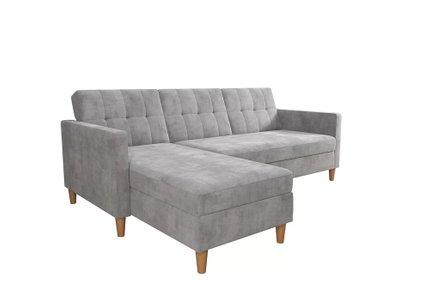 Sanders Reversible Sleeper Sectional Light Gray