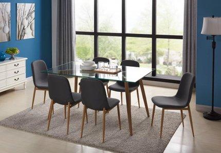 Alnair Park Modern Glass 7 Piece Dining Set