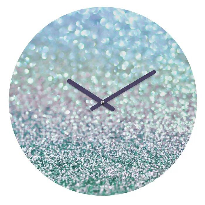 Rent In San Francisco Bay Area: Rent Edmundson Snowfall Wall Clock Blue Mist