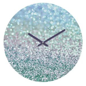 Edmundson Snowfall Wall Clock Blue Mist
