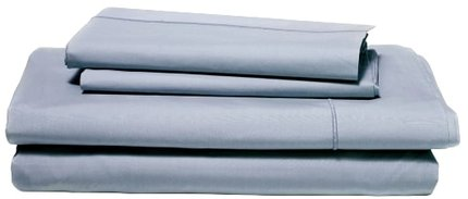 Snowe 4-Piece Percale Queen Sheet Set Slate Blue