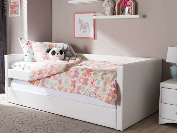 Reeve Twin Bed White