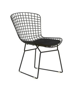 Elle Decor Holly Wire Chair Black(Set of 2)