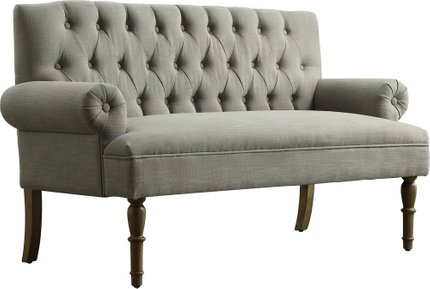 Anchig Chesterfield Settee Gray