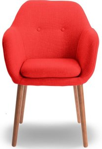 Elle Decor Roux Arm Chair, Red