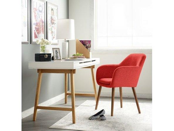 Elle Decor Roux Arm Chair, Red