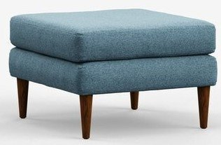 Campaign Modern Ottoman Meridian Blue With Matte Mahogany