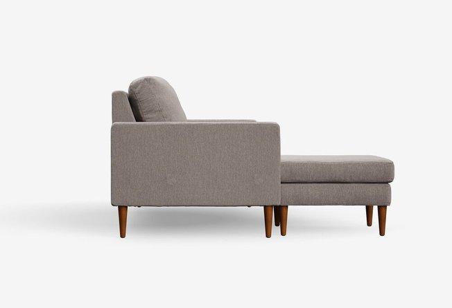 Campaign Reversible Sectional Sofa Pebble Gray & Mahogany