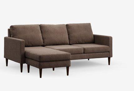 Reversible Sectional Sofa Russet Brown & Mahogany