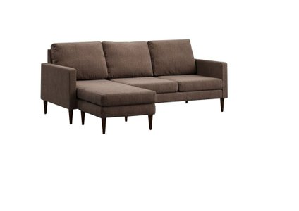 Campaign Reversible Sectional Sofa Russet Brown & Mahogany