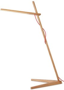 Clamp Floor Lamp White Oak