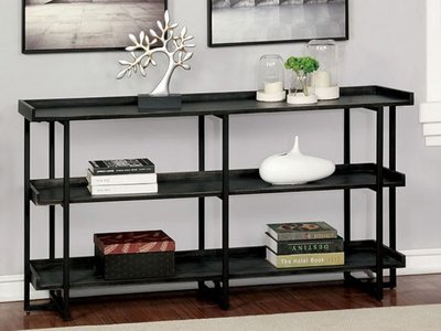 Leor 3-Layer Shelf Black