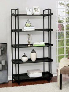 Lucian Ladder Shelf Black