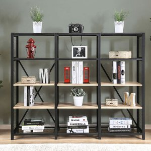 Segovia 4-Tier Shelf Natural And Black