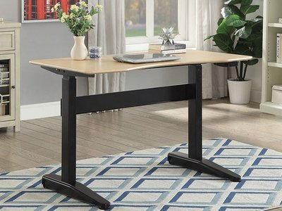Kilkee Height-Adjustable Small Desk Oak And Black