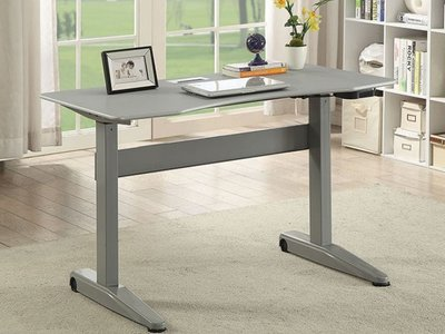 Kilkee Height-Adjustable Small Desk Gray