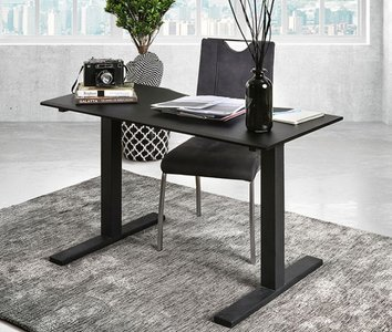 Hedvig Adjustable Height Small Desk Black