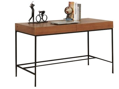 Twain Desk Oak And Black