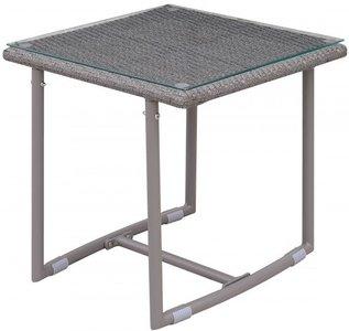 Amya Outdoor End Table Gray