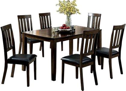 Chandler Dining Set For 6 Dark Oak
