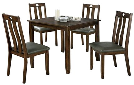 Brinley I Dining Set For 4 Walnut And Gray