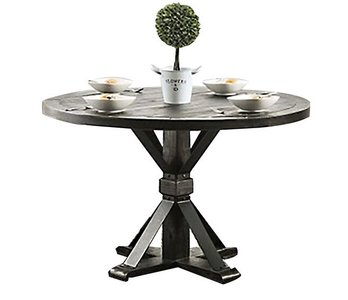 Alfred Round Dining Table Antique Black