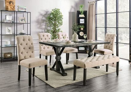 Alfred Dining Table Antique Black